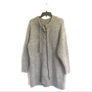 Zara Wool Blend Knit Sweater Dress Size Medium
